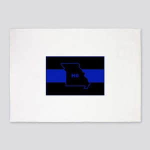 Thin Blue Line - Missouri 5'x7'Area Rug